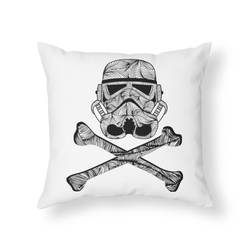 Skulltrooper Home Throw Pillow by Tentimeskarma