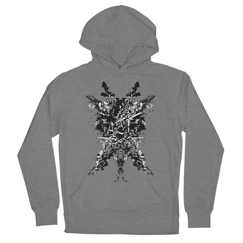 Abstract No. 7 Women's French Terry Pullover Hoody by Tentimeskarma