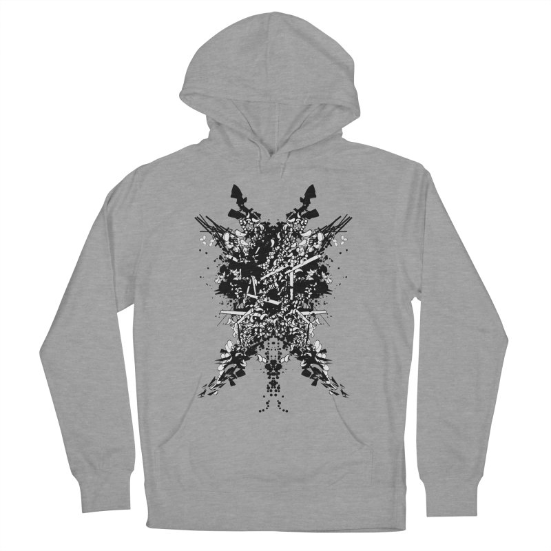 Abstract No. 7 Men's French Terry Pullover Hoody by Tentimeskarma