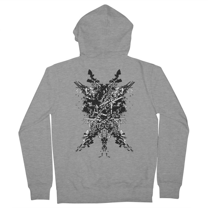 Abstract No. 7 Women's French Terry Zip-Up Hoody by Tentimeskarma