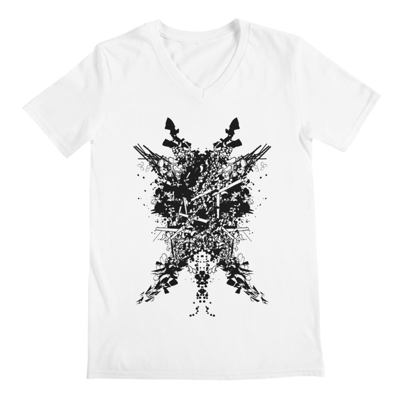 Abstract No. 7 Men's Regular V-Neck by Tentimeskarma