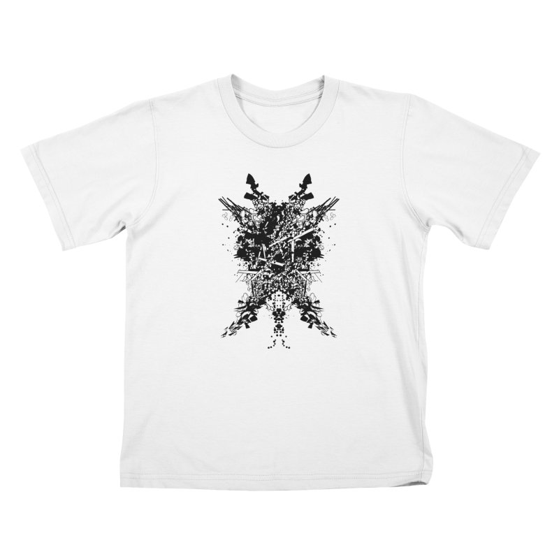 Abstract No. 7 Kids T-Shirt by Tentimeskarma