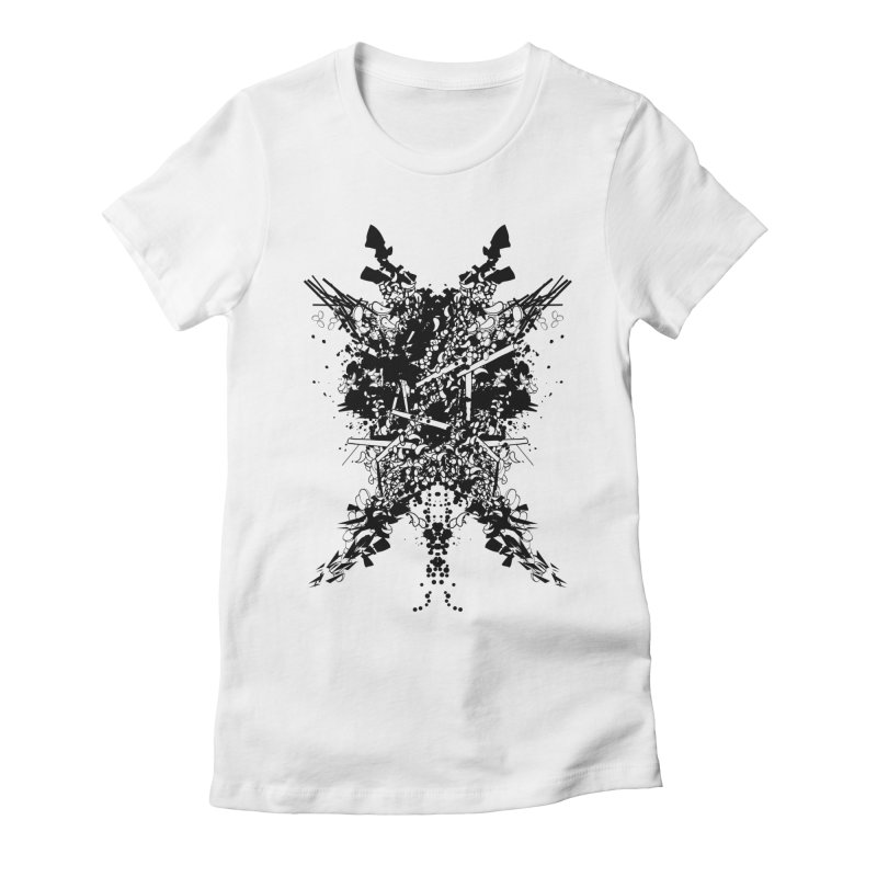 Abstract No. 7 Women's Fitted T-Shirt by Tentimeskarma