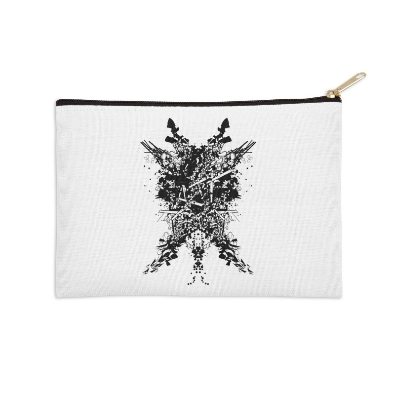 Abstract No. 7 Accessories Zip Pouch by Tentimeskarma
