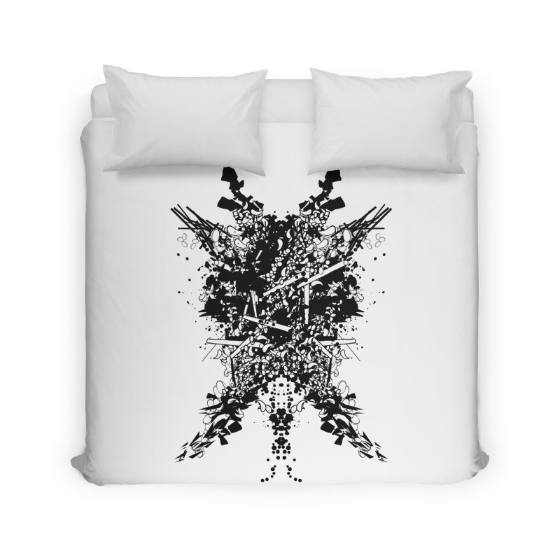 Abstract No. 7 Home Duvet by Tentimeskarma