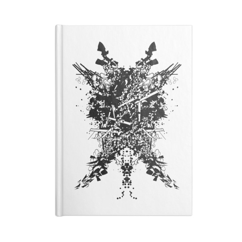 Abstract No. 7 Accessories Lined Journal Notebook by Tentimeskarma