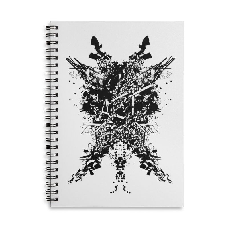Abstract No. 7 Accessories Lined Spiral Notebook by Tentimeskarma