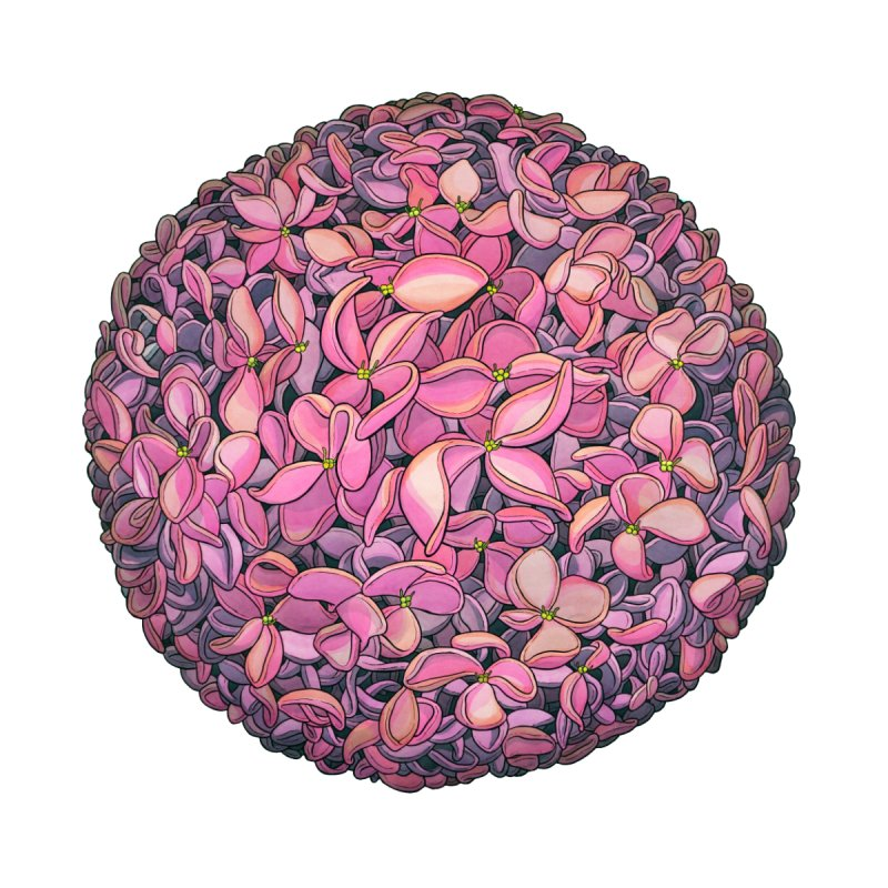 Pink Flowerball by Scott Teplin's Chazerai Bazaar