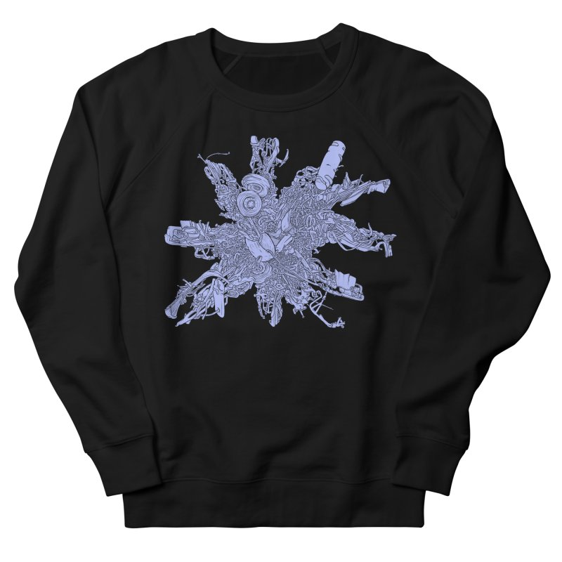Star Crash - periwinkle Men's French Terry Sweatshirt by Scott Teplin's Chazerai Bazaar