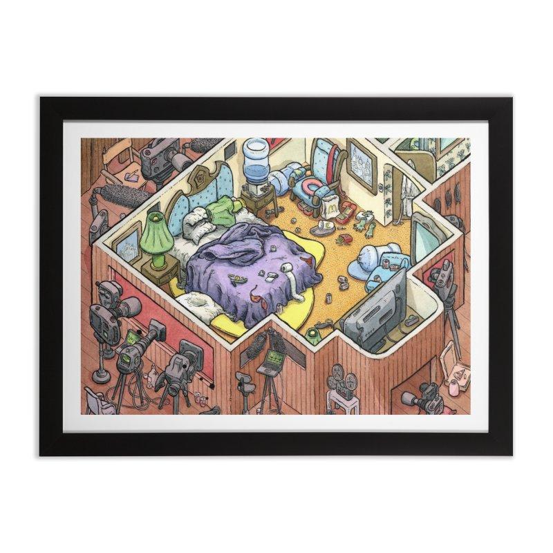 Russian Pee Room Home Framed Fine Art Print by Scott Teplin's Chazerai Bazaar