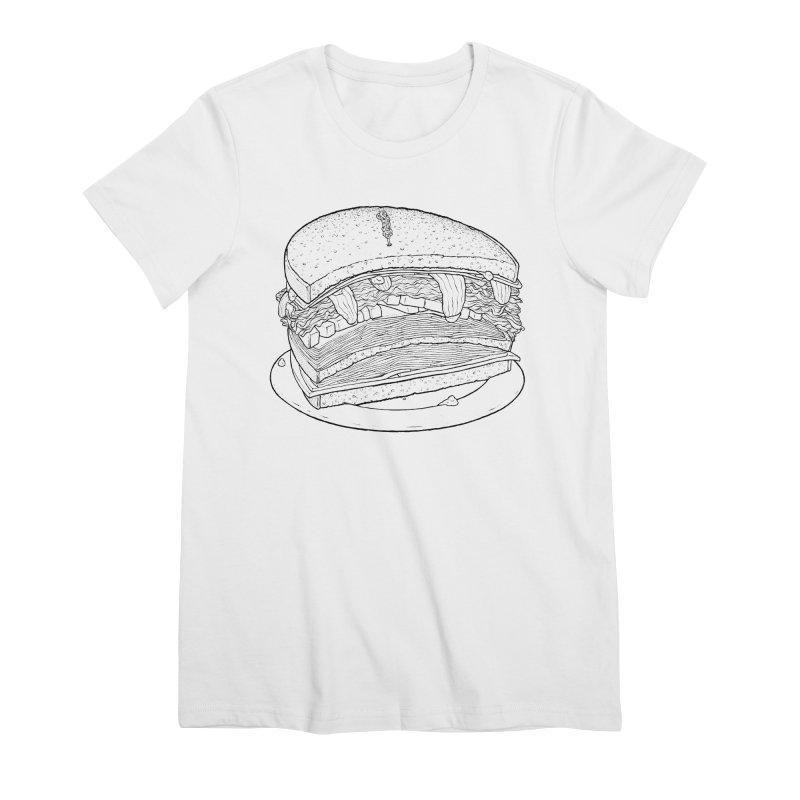 Oh, just half for me, thanks. Women's Premium T-Shirt by Scott Teplin's Chazerai Bazaar