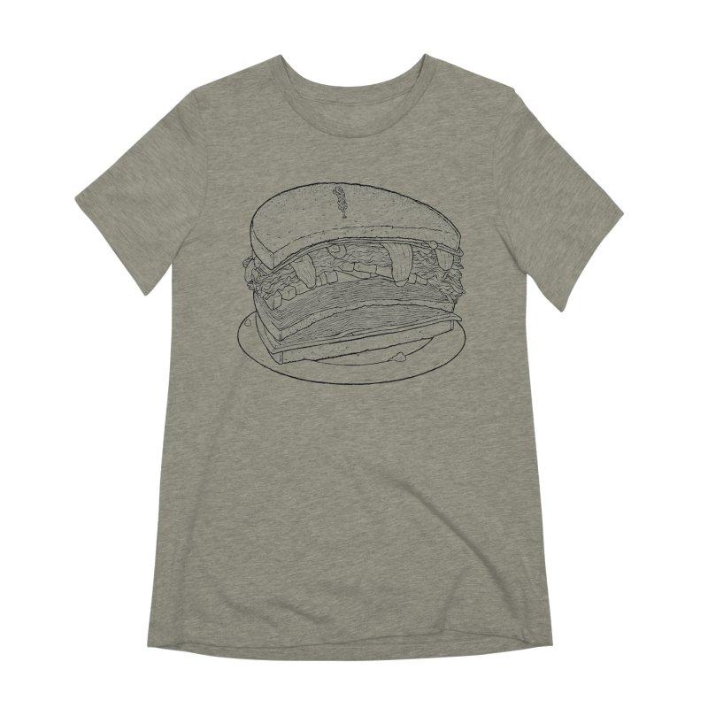 Oh, just half for me, thanks. Women's Extra Soft T-Shirt by Scott Teplin's Chazerai Bazaar