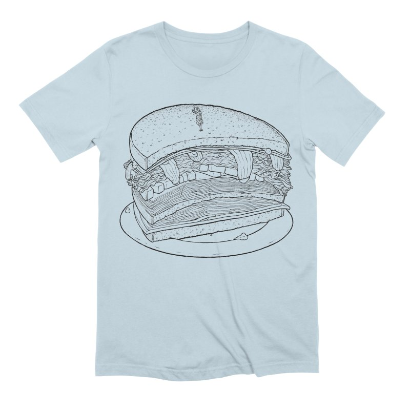 Oh, just half for me, thanks. Men's Extra Soft T-Shirt by Scott Teplin's Chazerai Bazaar