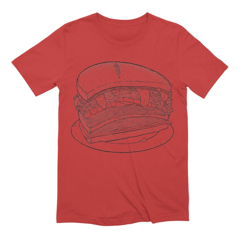 Oh, just half for me, thanks. Men's Extra Soft T-Shirt by Scott Teplin's Chazerai Bazaar