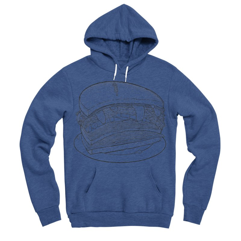 Oh, just half for me, thanks. Men's Sponge Fleece Pullover Hoody by Scott Teplin's Chazerai Bazaar