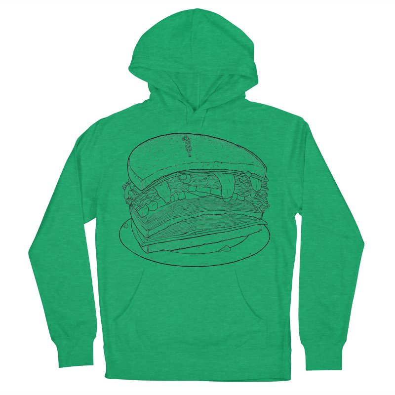 Oh, just half for me, thanks. Women's French Terry Pullover Hoody by Scott Teplin's Chazerai Bazaar
