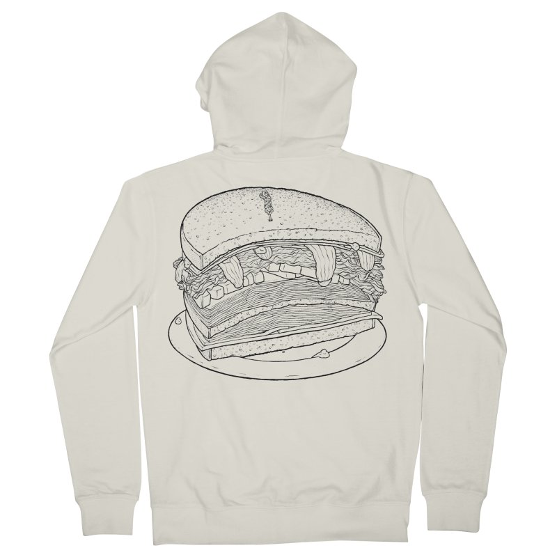 Oh, just half for me, thanks. Men's French Terry Zip-Up Hoody by Scott Teplin's Chazerai Bazaar