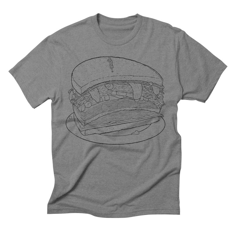 Oh, just half for me, thanks. Men's Triblend T-Shirt by Scott Teplin's Chazerai Bazaar