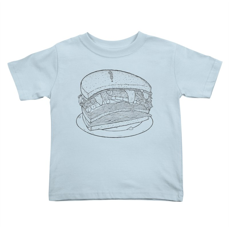 Oh, just half for me, thanks. Kids Toddler T-Shirt by Scott Teplin's Chazerai Bazaar