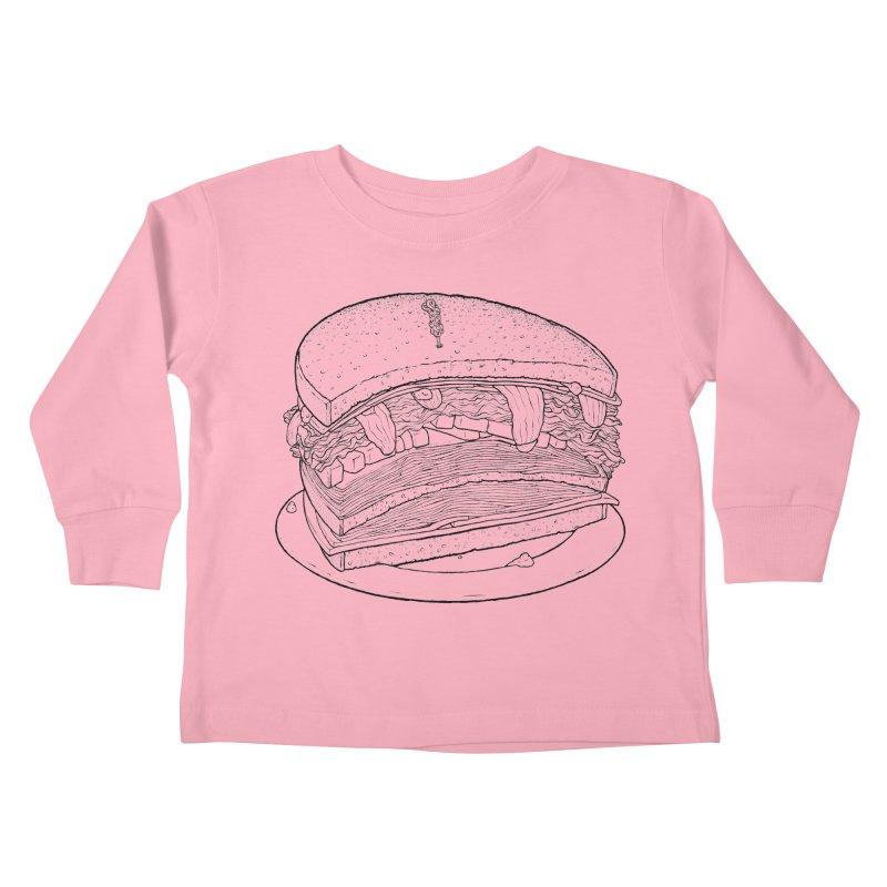 Oh, just half for me, thanks. Kids Toddler Longsleeve T-Shirt by Scott Teplin's Chazerai Bazaar