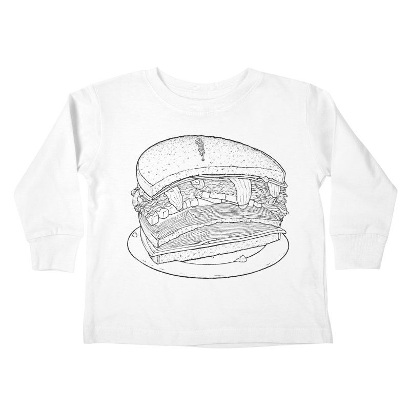 Oh, just half for me, thanks. Kids Toddler Longsleeve T-Shirt by Scott Teplin's Chazerai Bazaar