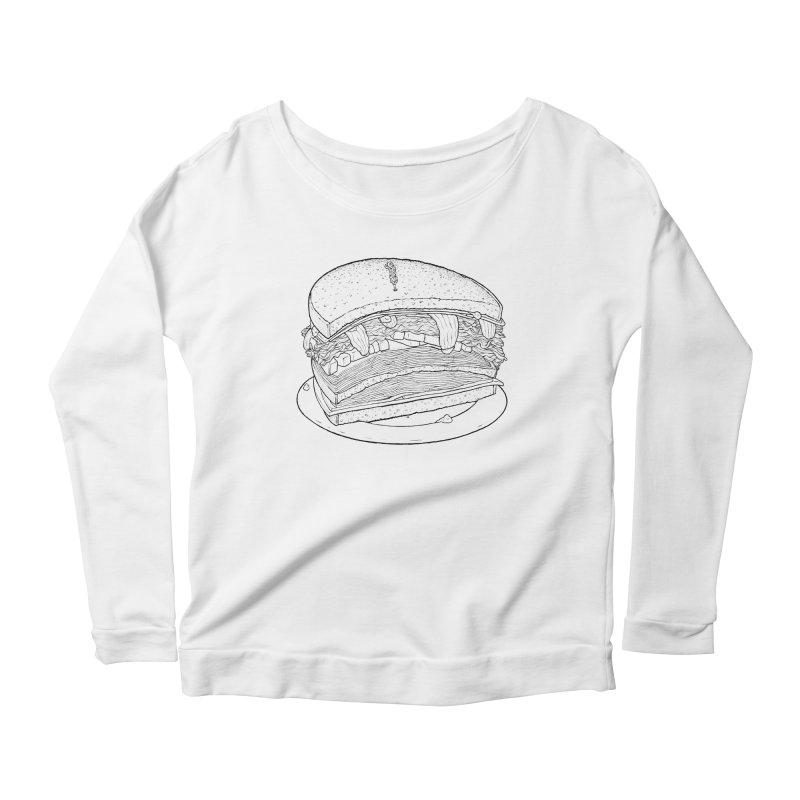 Oh, just half for me, thanks. Women's Scoop Neck Longsleeve T-Shirt by Scott Teplin's Chazerai Bazaar