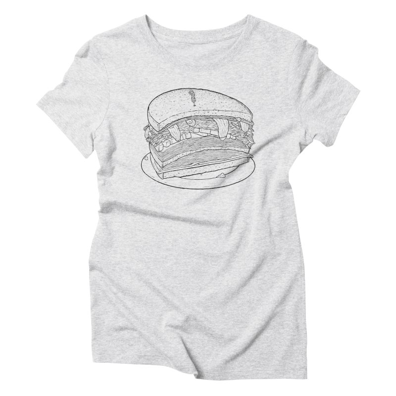 Oh, just half for me, thanks. Women's Triblend T-Shirt by Scott Teplin's Chazerai Bazaar