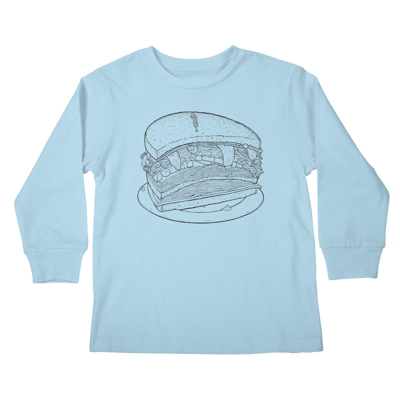 Oh, just half for me, thanks. Kids Longsleeve T-Shirt by Scott Teplin's Chazerai Bazaar