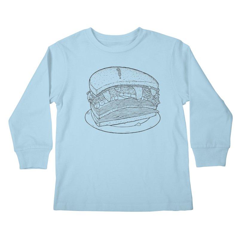 Oh, just half for me, thanks. Kids Longsleeve T-Shirt by Scott Teplin's Chazerai Bazaar