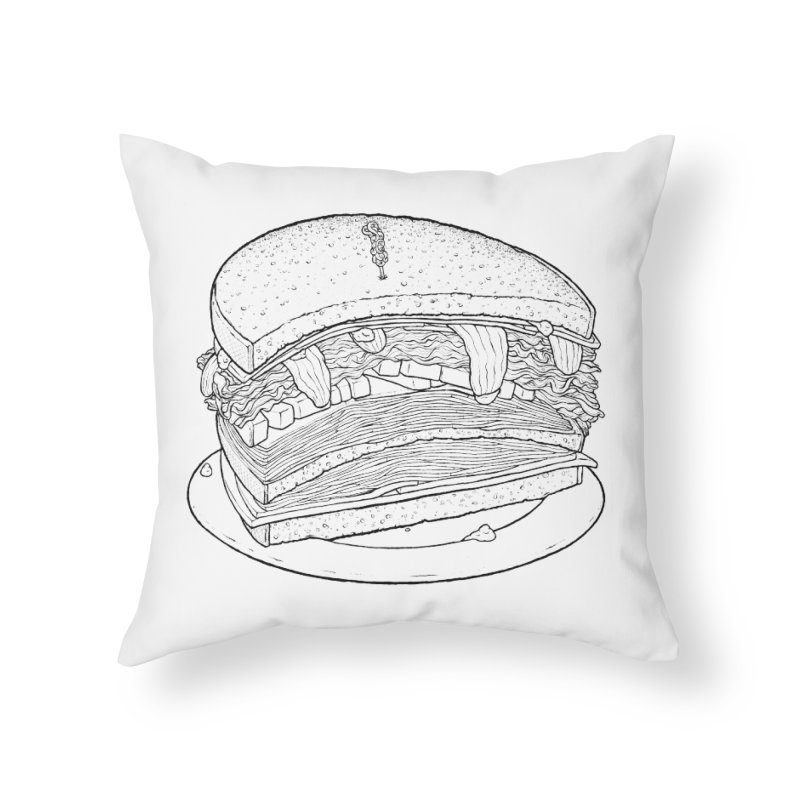Oh, just half for me, thanks. Home Throw Pillow by Scott Teplin's Chazerai Bazaar