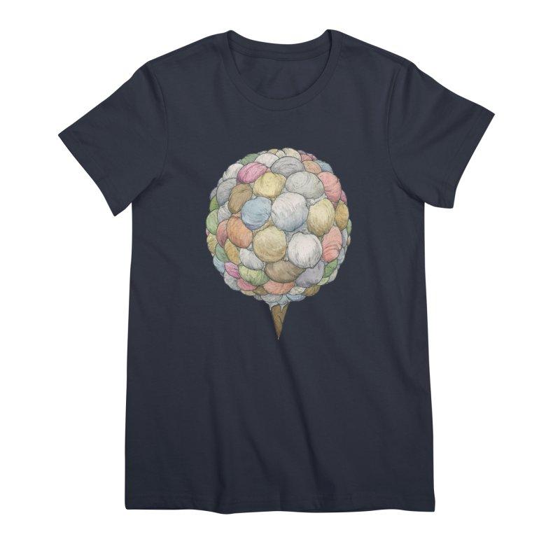 Ice Creams Cone Women's Premium T-Shirt by Scott Teplin's Chazerai Bazaar