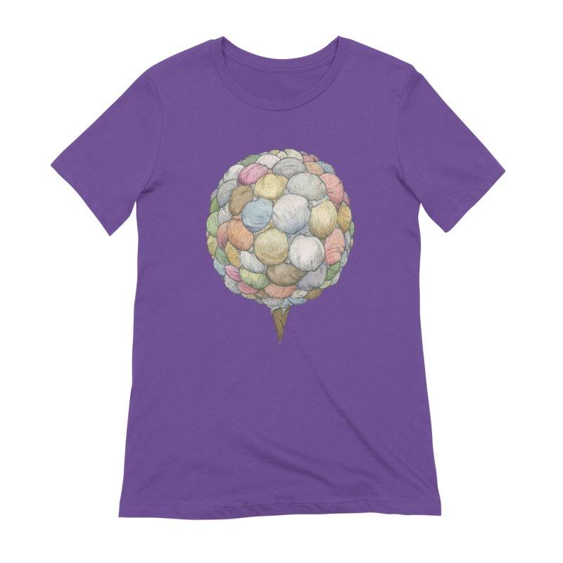 Ice Creams Cone Women's Extra Soft T-Shirt by Scott Teplin's Chazerai Bazaar