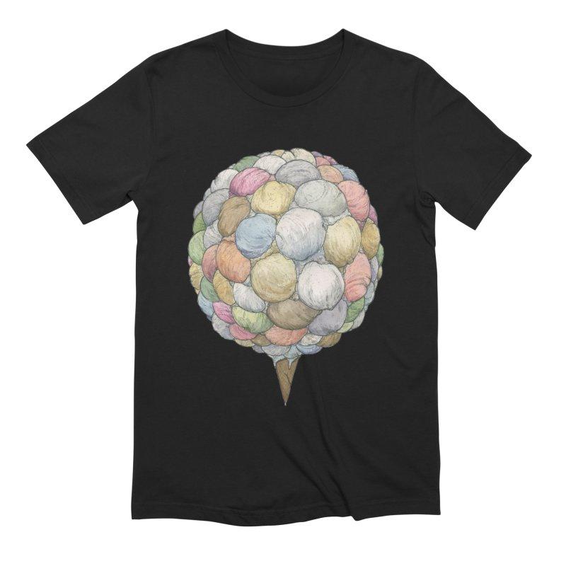 Ice Creams Cone Men's Extra Soft T-Shirt by Scott Teplin's Chazerai Bazaar
