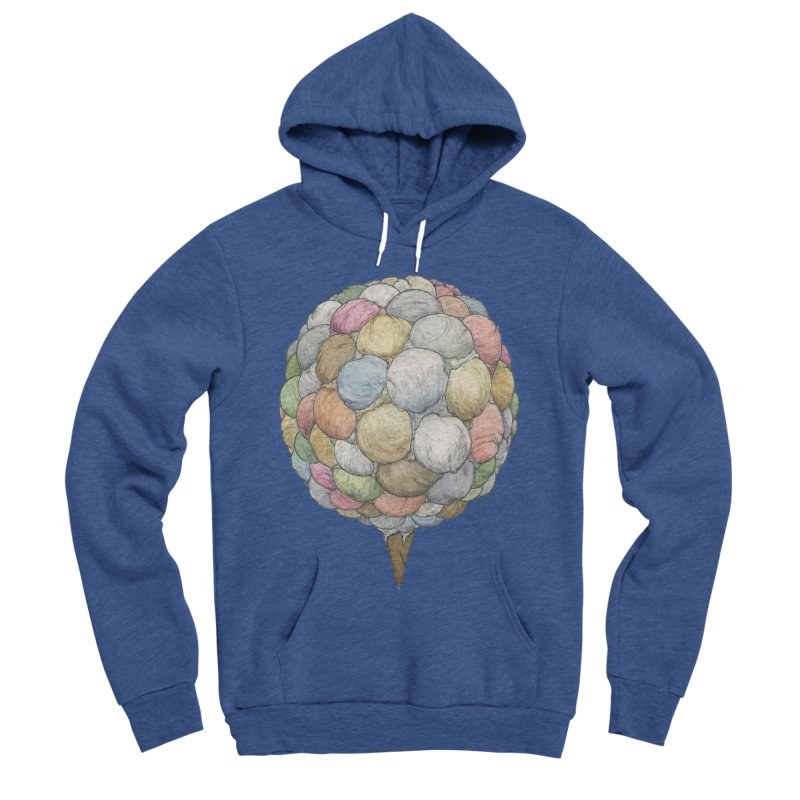 Ice Creams Cone Men's Sponge Fleece Pullover Hoody by Scott Teplin's Chazerai Bazaar