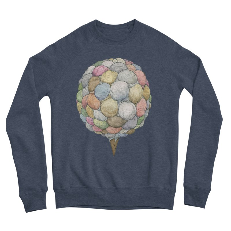 Ice Creams Cone Men's Sponge Fleece Sweatshirt by Scott Teplin's Chazerai Bazaar