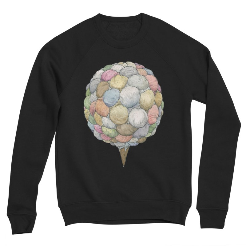 Ice Creams Cone Women's Sponge Fleece Sweatshirt by Scott Teplin's Chazerai Bazaar