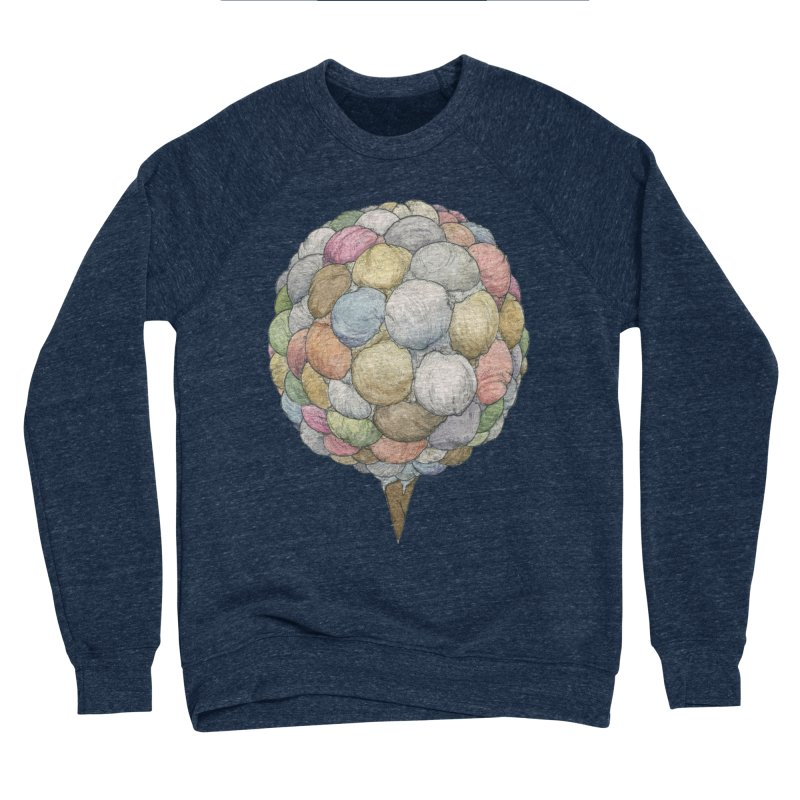 Ice Creams Cone Women's Sponge Fleece Sweatshirt by Scott Teplin's Chazerai Bazaar