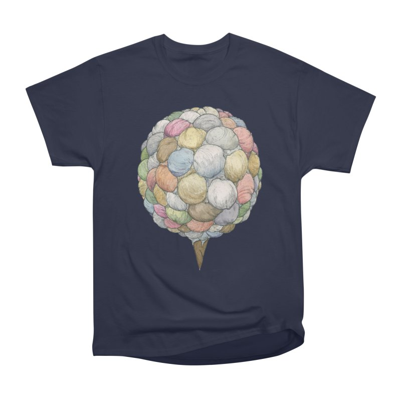 Ice Creams Cone Women's Heavyweight Unisex T-Shirt by Scott Teplin's Chazerai Bazaar