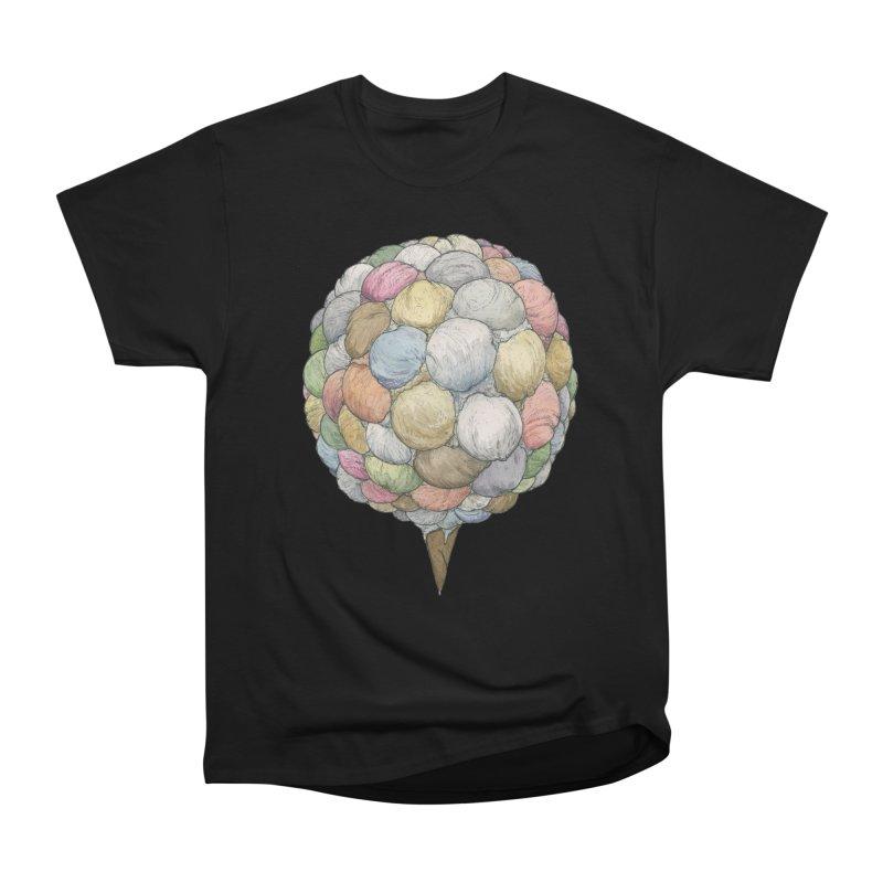 Ice Creams Cone Women's Heavyweight Unisex T-Shirt by Scott Teplin's Chazerai Bazaar