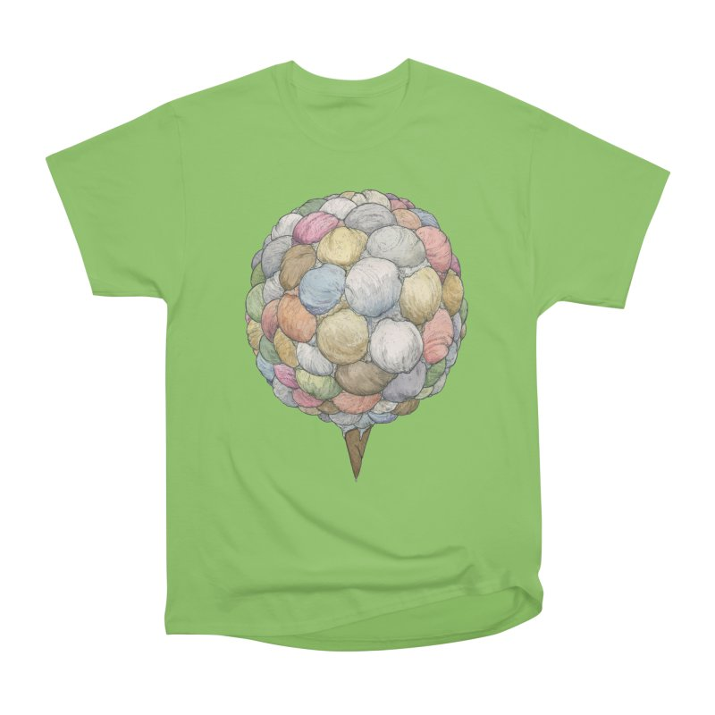 Ice Creams Cone Men's Heavyweight T-Shirt by Scott Teplin's Chazerai Bazaar