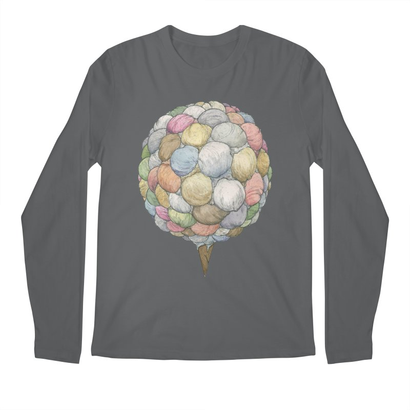Ice Creams Cone Men's Regular Longsleeve T-Shirt by Scott Teplin's Chazerai Bazaar