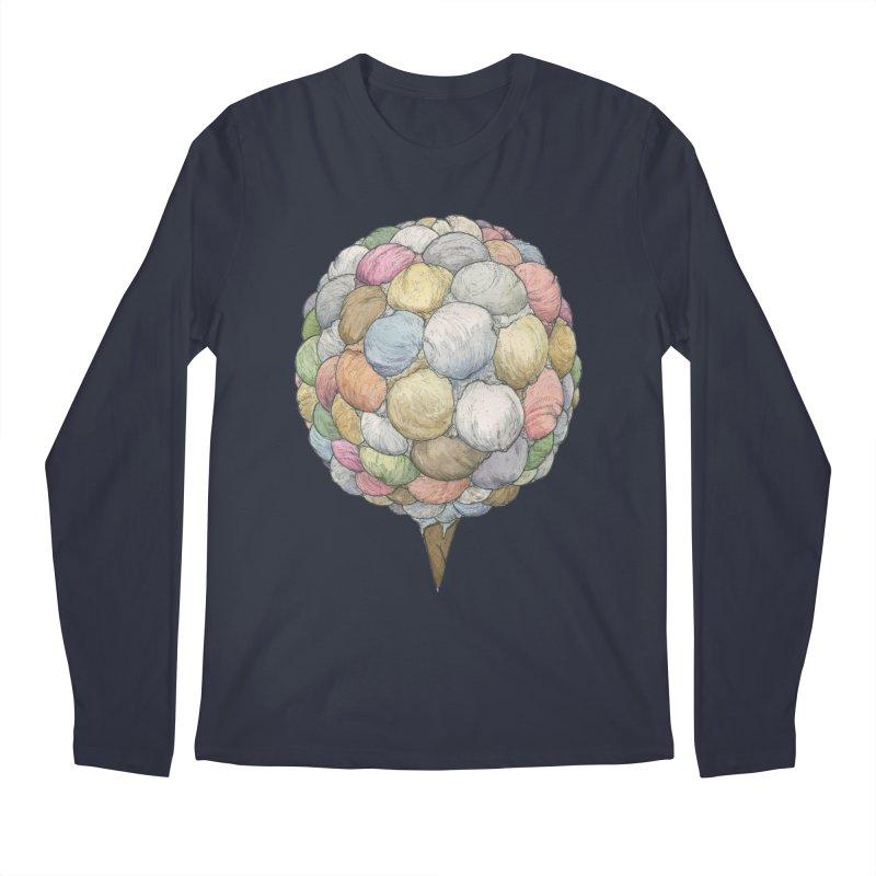 Ice Creams Cone Men's Regular Longsleeve T-Shirt by Scott Teplin's Chazerai Bazaar