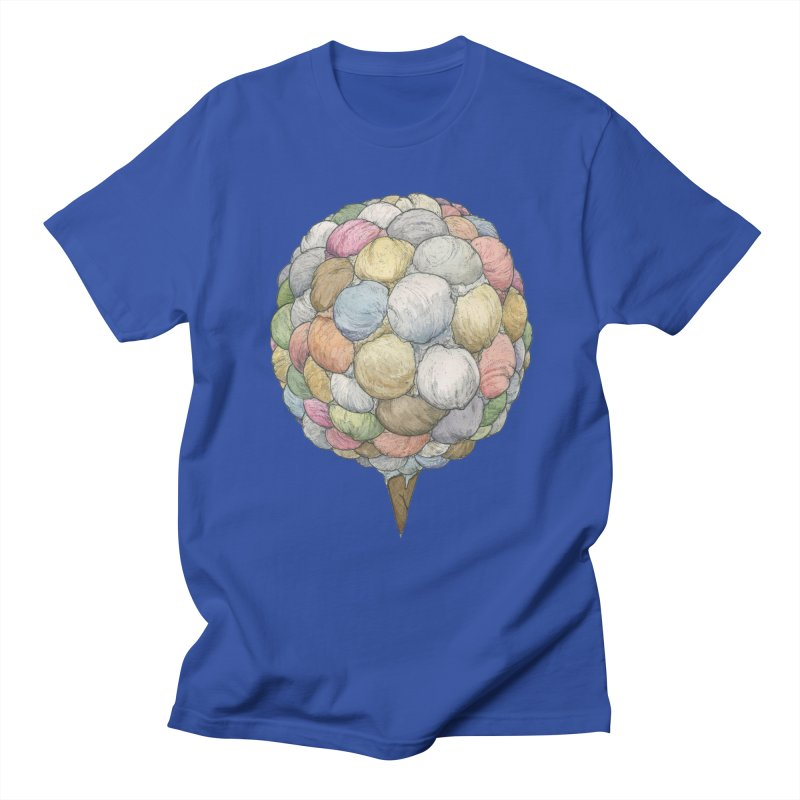 Ice Creams Cone Men's Regular T-Shirt by Scott Teplin's Chazerai Bazaar