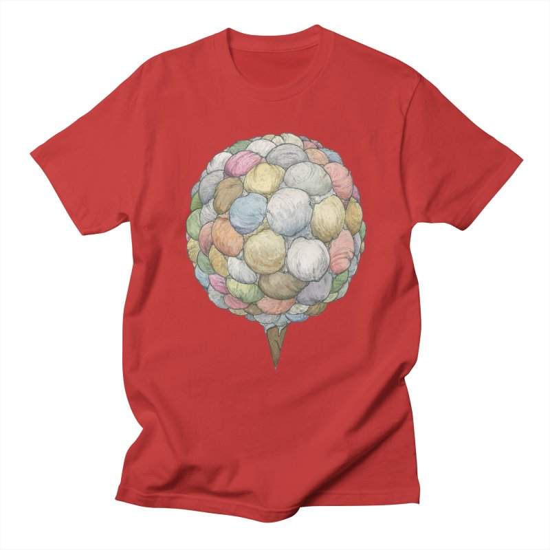 Ice Creams Cone Women's Regular Unisex T-Shirt by Scott Teplin's Chazerai Bazaar
