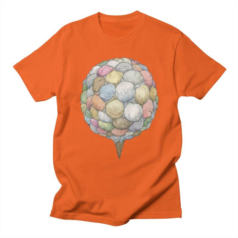 Ice Creams Cone Men's Regular T-Shirt by Scott Teplin's Chazerai Bazaar