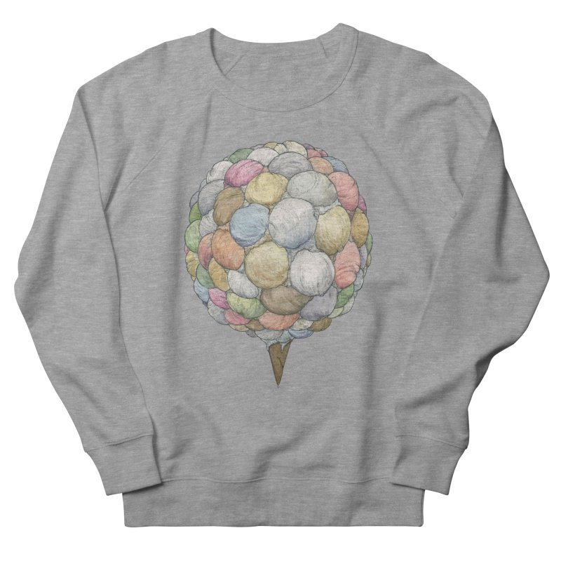 Ice Creams Cone Women's French Terry Sweatshirt by Scott Teplin's Chazerai Bazaar