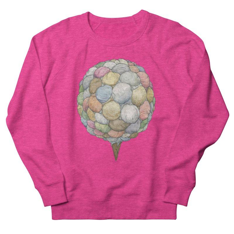 Ice Creams Cone Women's French Terry Sweatshirt by Scott Teplin's Chazerai Bazaar
