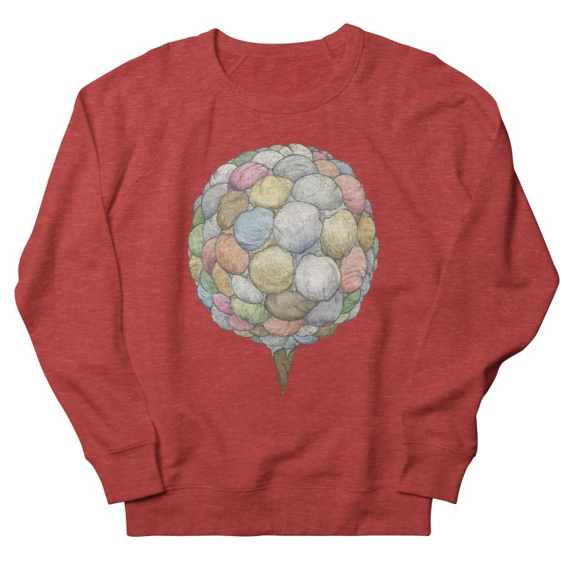 Ice Creams Cone Men's French Terry Sweatshirt by Scott Teplin's Chazerai Bazaar