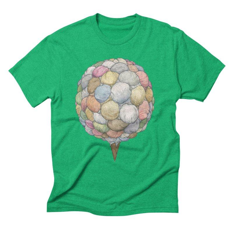 Ice Creams Cone Men's Triblend T-Shirt by Scott Teplin's Chazerai Bazaar