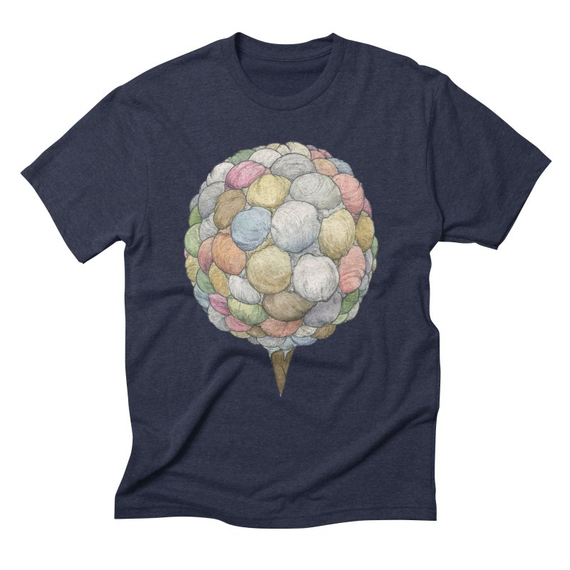 Ice Creams Cone Men's Triblend T-Shirt by Scott Teplin's Chazerai Bazaar